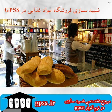 پروژه شبیه سازی فروشگاه مواد غذایی در gpss